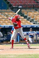 Freddy Valdez participates in the MLB International Showcase at Estadio Quisqeya on February 22-23, 2017 in Santo Domingo, Dominican Republic.