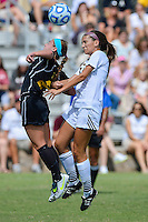Appalachian State forward Abbey Nolte (2) and Texas State forward Rachel Grout (22) during first half of an NCAA soccer game, Sunday, October 05, 2014 in San Marcos, Tex. Texas State leads 1-0 at the halftime. (Mo Khursheed/TFV Media via AP Images)