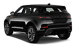 Car pictures of rear three quarter view of 2021 Land Rover Range-Rover-Evoque R-Dynamic 5 Door SUV Angular Rear