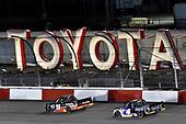 #18: Christian Eckes, Kyle Busch Motorsports, Toyota Tundra Safelite AutoGlass and #4: Raphael Lessard, Kyle Busch Motorsports, Toyota Tundra Mobil 1