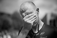 Ian Stannard's (GBR/Sky) sweaty post-race face<br /> <br /> Stage 18 (ITT) - Sallanches › Megève (17km)<br /> 103rd Tour de France 2016