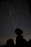 Star Trails over Balanced Rock