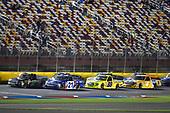 #21: Johnny Sauter, GMS Racing, Chevrolet Silverado ISM Connect and #16: Brett Moffitt, Hattori Racing Enterprises, Toyota Tundra