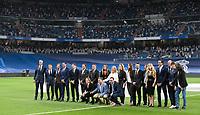 12th September 2021; Estadio Santiago Bernabeu, Madrid, Spain; La Liga, Real Madrid CF versus RC Celta de Vigo;<br /> Tribute to Lorenzo Sanz, former president of Real Madrid who died of covid. His family and former Real Madrid players