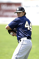 Mahoning Valley Scrappers Daniel Miltenberger during a NY-Penn League game at Dwyer Stadium on July 30, 2006 in Batavia, New York.  (Mike Janes/Four Seam Images)