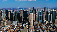 aerial photograph the mid town Manhattan skyline, New York City