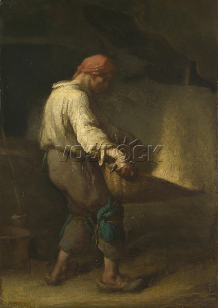 Full title: The Winnower<br /> Artist: Jean-François Millet<br /> Date made: about 1847-8<br /> Source: http://www.nationalgalleryimages.co.uk/<br /> Contact: picture.library@nationalgallery.co.uk<br /> <br /> Copyright © The National Gallery, London