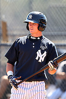New York Yankees minor league outfielder Ben Gamel (19) vs. the Pittsburgh Pirates in an Instructional League game at the New York Yankees Minor League Complex in Tampa, Florida;  October 8, 2010.  Photo By Mike Janes/Four Seam Images
