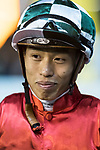 Jockey #7 Vincent Ho Chak-yiu riding Haymaker celebrates after winning the race 4 of Hong Kong Racing at Happy Valley Race Course on November 29, 2017 in Hong Kong, Hong Kong. Photo by Marcio Rodrigo Machado / Power Sport Images