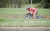 Mads Wurtz Schmidt (DEN) on his way to become the 2015 U23 TT World Champion<br /> <br /> U23 Men TT<br /> UCI Road World Championships / Richmond 2015