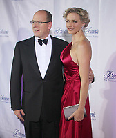 Prince Albert and Charlene Wittstock, 10/15/08  Photo By John Barrett/PHOTOlink