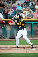 Jose Gil (36) of the Salt Lake Bees at bat against the Tacoma Rainiers in Pacific Coast League action at Smith's Ballpark on September 2, 2015 in Salt Lake City, Utah. Tacoma defeated Salt Lake 13-6. (Stephen Smith/Four Seam Images)