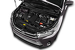 Car Stock 2018 Toyota Highlander Limited-Platinum 5 Door SUV Engine  high angle detail view