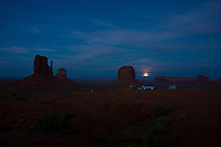 Full Moon Rise Over Monument Valley, Arizona, USA