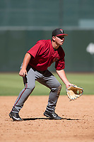 Arizona Diamondbacks third baseman Buddy Kennedy (25) during an Instructional League game against the Kansas City Royals at Chase Field on October 14, 2017 in Phoenix, Arizona. (Zachary Lucy/Four Seam Images)