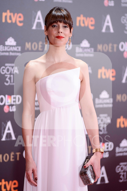Belen Cuesta attends to the Red Carpet of the Goya Awards 2017 at Madrid Marriott Auditorium Hotel in Madrid, Spain. February 04, 2017. (ALTERPHOTOS/BorjaB.Hojas)
