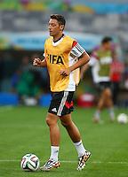 Mesut Ozil of Germany during training ahead of tomorrow's semi final vs Brazil