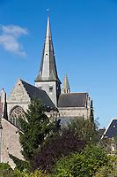 Europe/France/Pays de la Loire/44/Loire-Atlantique/Parc Naturel Régional de Brière/Guérande: La Collégiale Saint-Aubin vue depuis les remparts