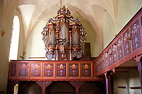 Interior of the Saxon Fortified church of Aţel ( Atel ) , Sibiu, Romania