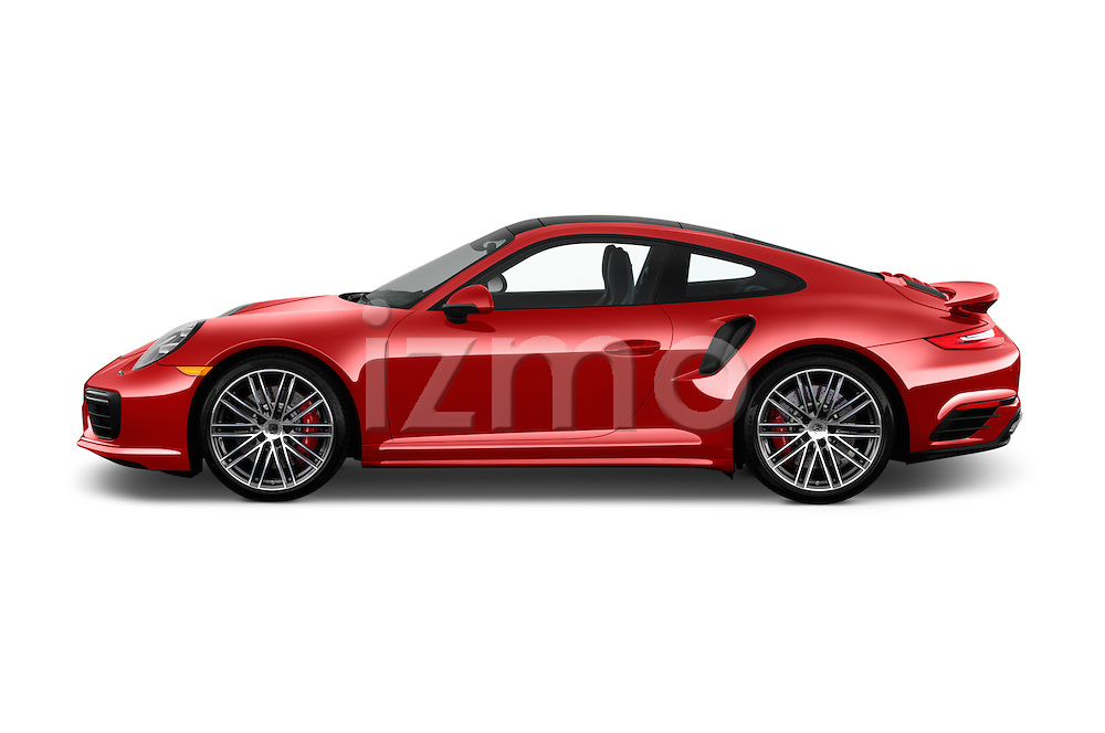 Car Driver side profile view of a 2018 Porsche 911 Turbo 2 Door Coupe Side View