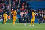 FC Barcelona Luis Suarez and Neymar after first goal of Atletico de Madrid during Champions League 2015/2016 Quarter-Finals 2nd leg match. April 13, 2016. (ALTERPHOTOS/BorjaB.Hojas)