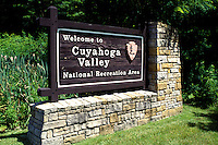 Ohio, OH, Cuyahoga Valley National Recreation Area, entrance sign