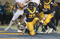 BERKELEY, CA - September 17, 2016: Vic Enwere celebrates scoring a touchdown in the second quarter in their game against Texas at Cal Memorial Stadium.