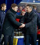27.02.2019 Rangers v Dundee: Steven Gerrard and Jim McIntyre
