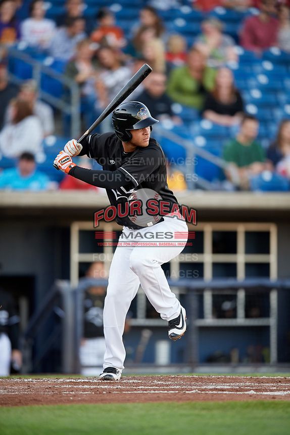 Quad Cities River Bandits third baseman Randy Cesar (30) at bat during a game against the Lake County Captains on May 6, 2017 at Modern Woodmen Park in Davenport, Iowa.  Lake County defeated Quad Cities 13-3.  (Mike Janes/Four Seam Images)