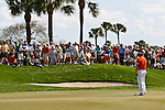 PALM BEACH GARDENS, FL. - Y.E. Yang watches his put on hole 9 during final round play at the 2009 Honda Classic - PGA National Resort and Spa in Palm Beach Gardens, FL. on March 8, 2009.
