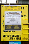Todays game. Hucknall Town v Heanor Town, 17th October 2020, at the Watnall Road Ground, East Midlands Counties League. Photo by Paul Thompson.