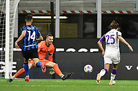 26th September 2020, San Siro Stadium, Milan, Italy; Serie A Football, Inter Milan versus Fiorentina;  The goal scored by Federico Chiesa for 2-3 to Fiorentina