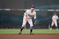 Princeton Rays shortstop Jake Palomaki (1) during the second game of a doubleheader against the Johnson City Cardinals on August 17, 2018 at Hunnicutt Field in Princeton, Virginia.  Princeton defeated Johnson City 12-1.  (Mike Janes/Four Seam Images)