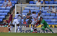 21st July 2021; Madejski Stadium, Reading, Berkshire, England; Pre Season Friendly Football, Reading versus West Ham United; A header from Pablo Fornals of West Ham is saved by goalkeeper Rafael of Reading