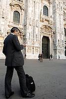 Piazza del Duomo, Milano.<br /> Scene in Piazza del Duomo, Milan.<br /> UPDATE IMAGES PRESS/Riccardo De Luca