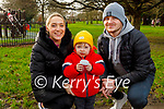 Leonie Flaherty with little Jamie and James Moriarty enjoying the Tralee town park on Saturday.