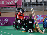 Philippe Lord competes in  Boccia at the 2019 ParaPan American Games in Lima, Peru-1aug2019-Photo Scott Grant