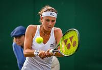 London, England, 4 th. July, 2018, Tennis,  Wimbledon, Woman's doubles:  Bibiane Schoofs (NED) <br /> Photo: Henk Koster/tennisimages.com
