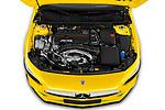Car Stock 2019 Mercedes Benz A-Class - 5 Door Hatchback Engine  high angle detail view