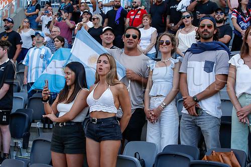 14th November 2020, Sydney, Australia;  Pumas fans and supporters. Tri Nations rugby union test match,  New Zealand All Blacks versus Argentina Pumas. Bankwest Stadium, Sydney, Australia.