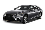2018 Lexus LS 500 F-SPORT 4 Door Sedan angular front stock photos of front three quarter view