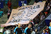 Fans aus Nymburk - 08.112016: Fraport Skyliners vs. CEZ Nymburk, BCL, Fraport Arena Frankfurt