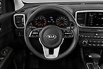 Car pictures of steering wheel view of a 2021 KIA Sportage LX 5 Door suv Steering Wheel