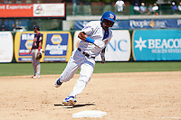 South Bend Cubs right fielder Eddy Martinez (15) runs the bases on his way to score the game winning run during the first game of a doubleheader against the Peoria Chiefs on July 25, 2016 at Four Winds Field in South Bend, Indiana.  South Bend defeated Peoria 9-8.  (Mike Janes/Four Seam Images)