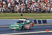 Jun. 1, 2013; Englishtown, NJ, USA: NHRA funny car driver Jeff Arend during qualifying for the Summer Nationals at Raceway Park. Mandatory Credit: Mark J. Rebilas-