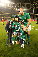 Saturday 17th November 2018 | Ireland vs New Zealand<br /> <br /> Rory Best and family after the 2018 Guinness Series between Ireland and Argentina at the Aviva Stadium, Lansdowne Road, Dublin, Ireland. Photo by John Dickson / DICKSONDIGITAL