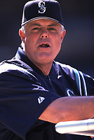 Seattle Mariners Manager Lou Piniella during a 2001 season MLB game at Angel Stadium in Anaheim, California. (Larry Goren/Four Seam Images)