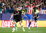 Atletico de Madrid's Saul Niguez (r) and Bayer 04 Leverkusen's Julian Baumgartlinger during Champions League 2016/2017 Round of 16 2nd leg match. March 15,2017. (ALTERPHOTOS/Acero)