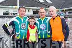 Tomas O'Connor, Issac and JAckie Brosnan and Tim Dineen at the Castleisland Day Care centre cycle on Sunday