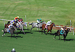 October 3, 2010.McDuffie takes the lead in the 5th at Hollywood Park, Inglewood, CA._Cynthia Lum/Eclipse Sportswirt.com